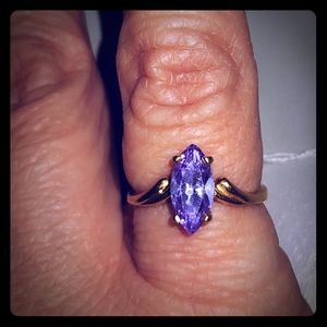 10k Gold Purple Ice Ring